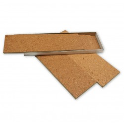 Floating cork parquet - conf.1.68 sqm - 6 planks 91.5x30cm - Pre - easy acoustic insulation installation