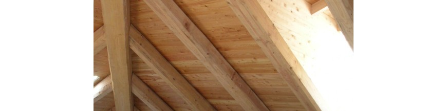 Roof and wooden beading